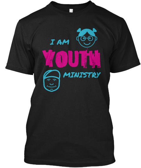 I Am Youth Ministry Black T-Shirt Front