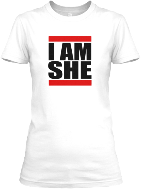 Run I Am She White Women's T-Shirt Front