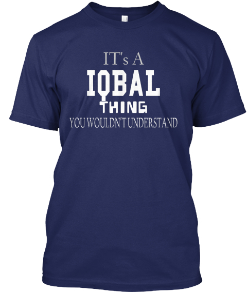 It's  A Iq Ba L Thing You   Wouldn't Understand Navy T-Shirt Front