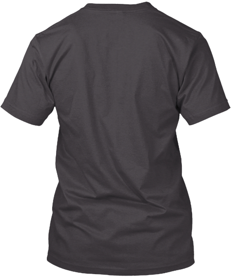 Manhattan, New York City Heathered Charcoal  T-Shirt Back