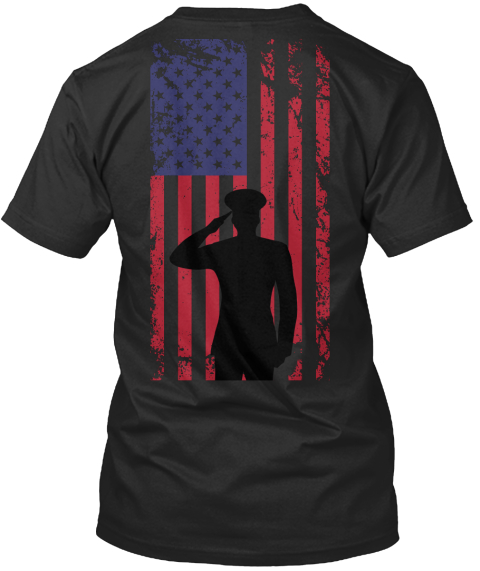 U.S. Veteran Black T-Shirt Back