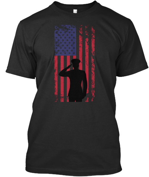 U.S. Veteran Black T-Shirt Front