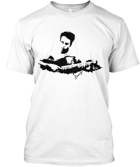 T Shirt By Domingo Art White T-Shirt Front