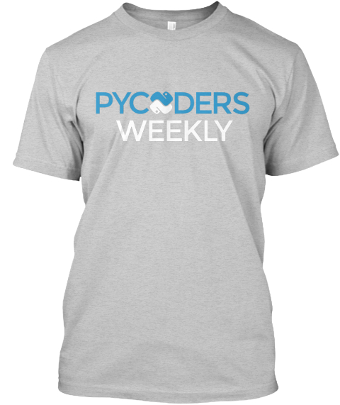 Pycoders Weekly  Light Steel T-Shirt Front