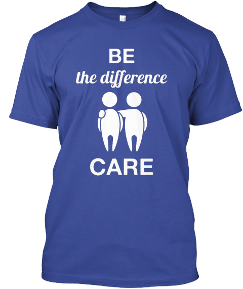 Be  The Difference Care Deep Royal T-Shirt Front
