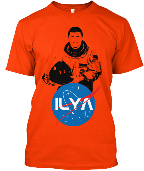 Ilya  Orange T-Shirt Front