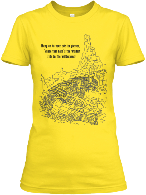 Hang On To Your Cats In Glasses, Cause This Here's The Wildest Ride In The Wilderness! Www.Dlcats.Com Daisy Women's T-Shirt Front