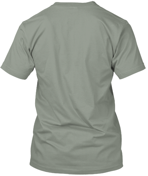 My Spirit Is A Roaring Sea Grey T-Shirt Back