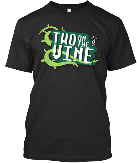 Two On The Vine  Black T-Shirt Front