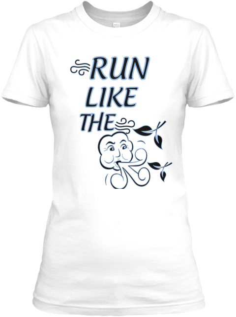 Run Like The  White Women's T-Shirt Front