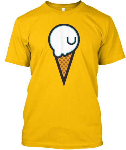 Jahova's Limited Edition Ice Cream Tee! Gold T-Shirt Front