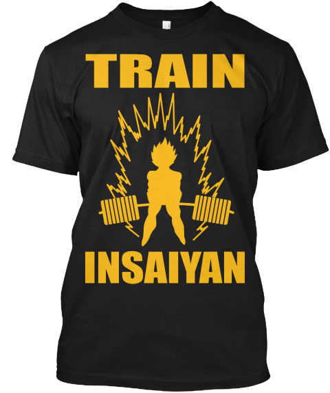 Train Insaiyan Black T-Shirt Front