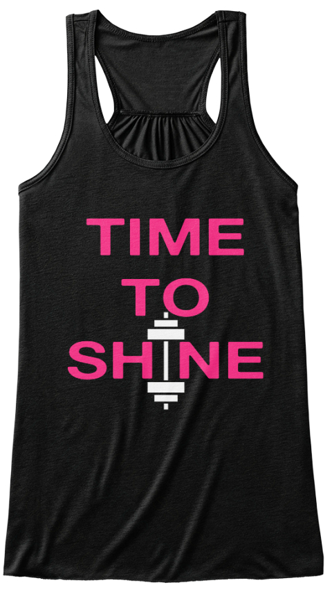 Time To Shine #Itsmyturn Www.Alterego.Fitness Black Women's Tank Top Front