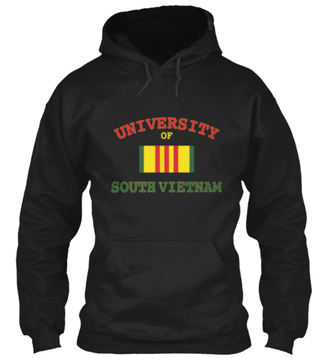 University Of South Vietnam Black Sweatshirt Front