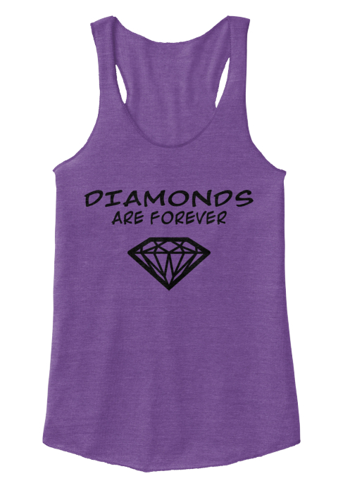 Diamonds  Are Forever  Eco True Purple  Women's Tank Top Front