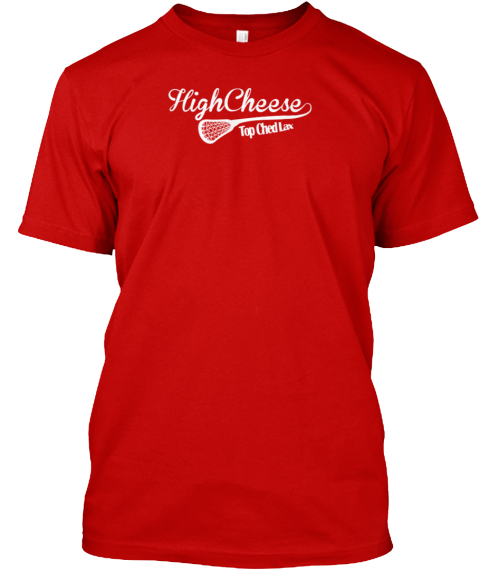 High Cheese Classic Red T-Shirt Front