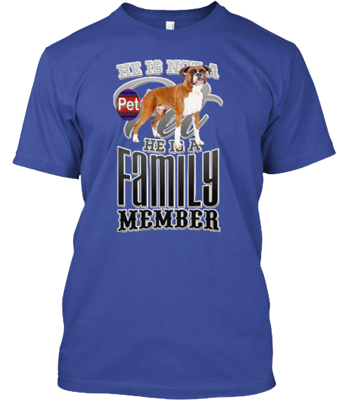 Dog Lovers Deep Royal T-Shirt Front