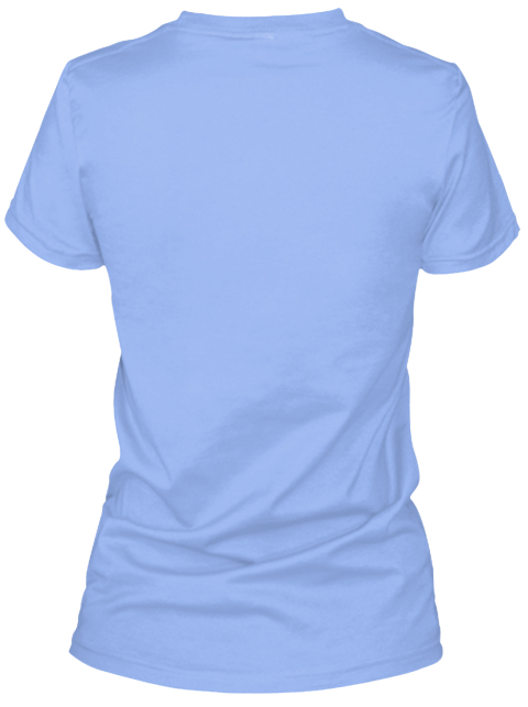 Family Dog Light Blue Women's T-Shirt Back
