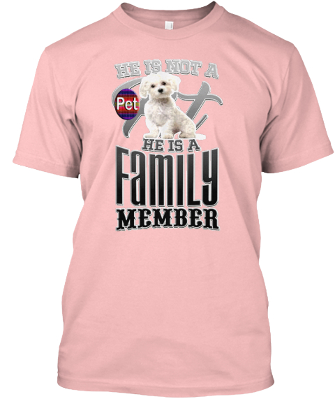Family Dog Pale Pink T-Shirt Front