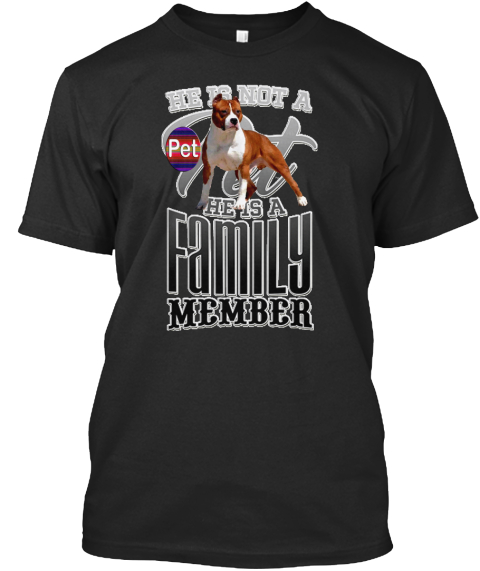 Family Dog Black T-Shirt Front