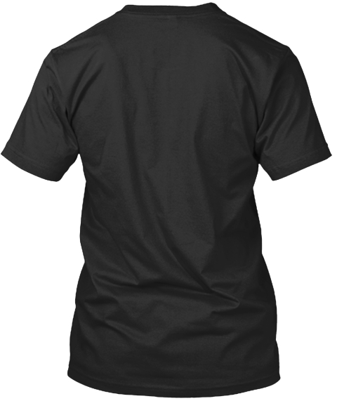 Hashtag Teacher Black T-Shirt Back