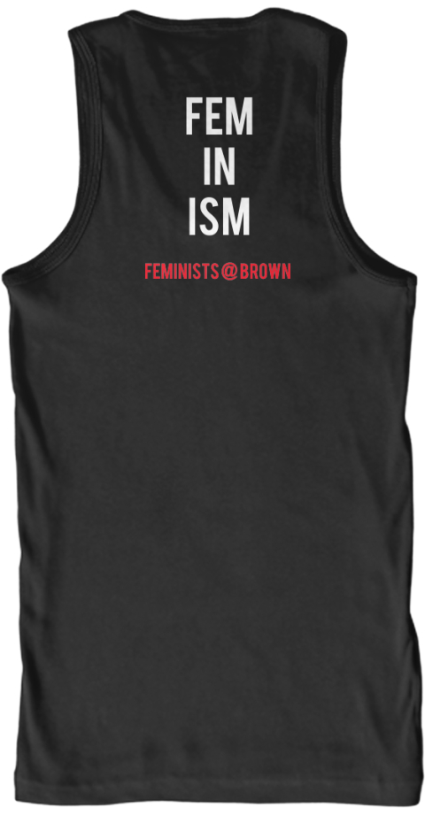 Fem%0 Ain%0 Aism Feminists %40 Brown Black T-Shirt Back