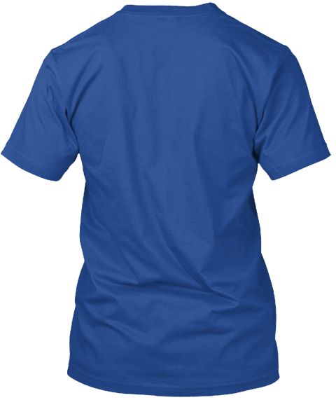 True Aquarius T Shirts Deep Royal T-Shirt Back