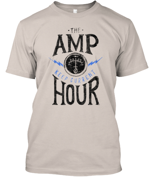 The Amp Hour In White Sand T-Shirt Front