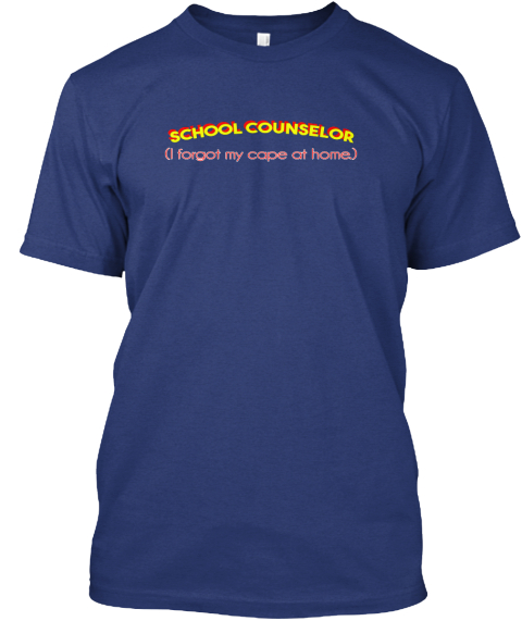 Super School Counselor Shirt Indigo T-Shirt Front