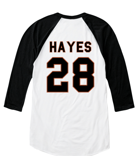 Utan Hayestough Hayes 28 White/Black  T-Shirt Back
