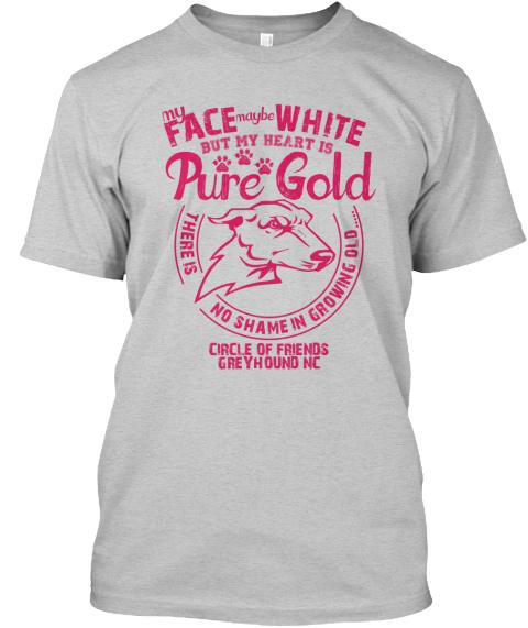 My Heart Is Pure Gold Fundraiser T-Shirt   Teespring