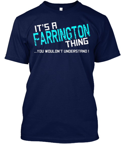 Farrington Thing (Limited Edition) Tee Navy T-Shirt Front