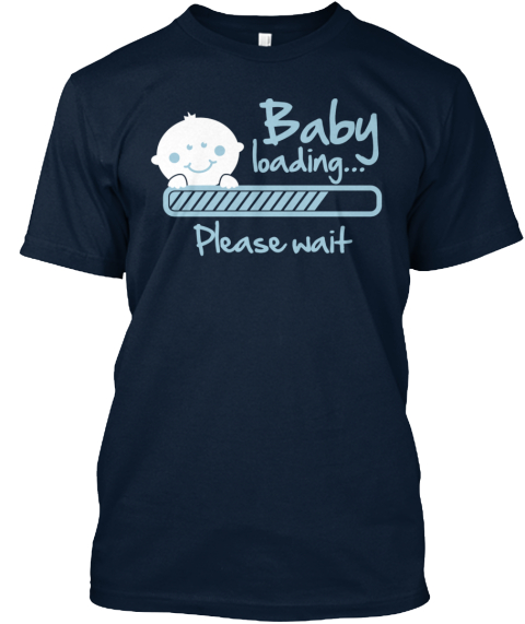 Baby Loading... Please Wait  New Navy T-Shirt Front