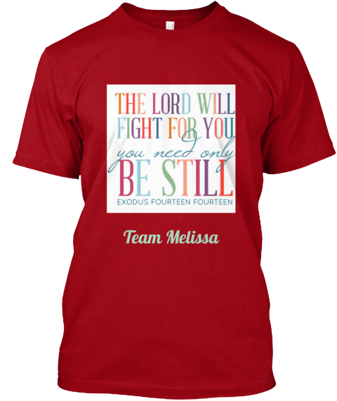 Team Melissa Deep Red T-Shirt Front