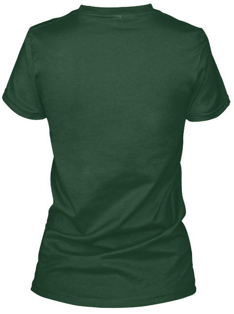 Bonsai Style Forest Green Women's T-Shirt Back
