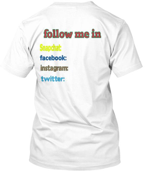 Social Human Follow Me In Snapchat Facebook Instagram Twitter