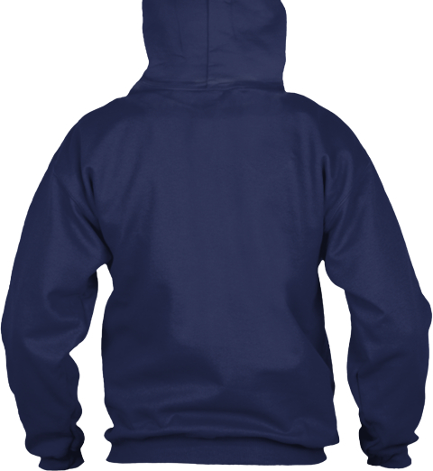 True American Hoodie Navy Sweatshirt Back