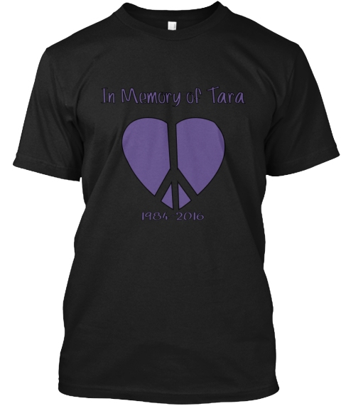 In Memory Of Tara 1984 2016 Woooosaaaaaa Black T-Shirt Front
