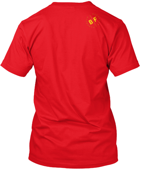 Running Is In My Dna Red T-Shirt Back