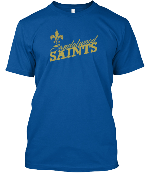 Sandalwood Saint Class Of 1979 Shirt Royal T-Shirt Front