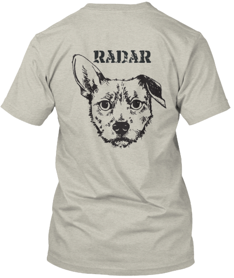 Radar Ash T-Shirt Back