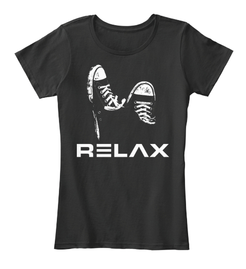 Relax   Feet Up   Shoes Black T-Shirt Front