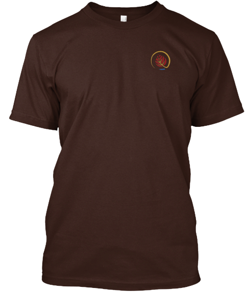 Not All Who Wander Are Lost Dark Chocolate T-Shirt Front