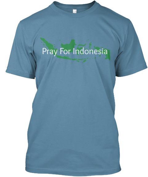 Show Your Love And Support For Indo! Steel Blue T-Shirt Front
