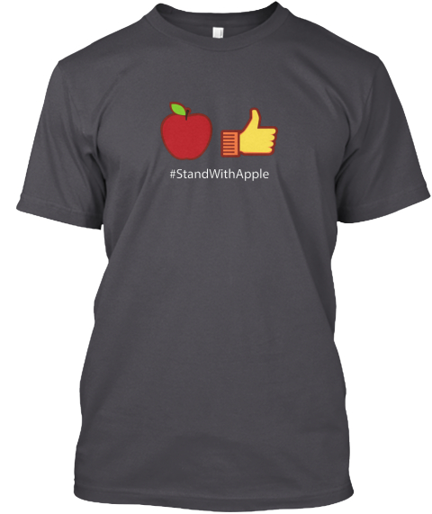 #Standwithapple Imore Asphalt T-Shirt Front