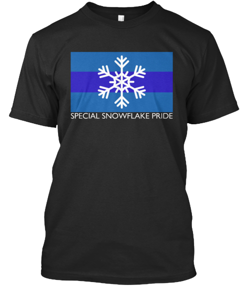 Special Snowflake Pride Black T-Shirt Front