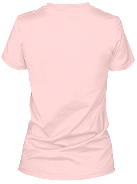 Marijuana Breast Cancer Support Light Pink T-Shirt Back