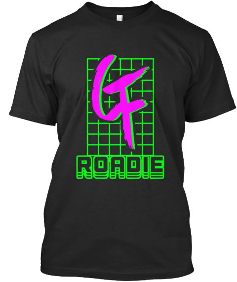 Cf Roadie Black T-Shirt Front