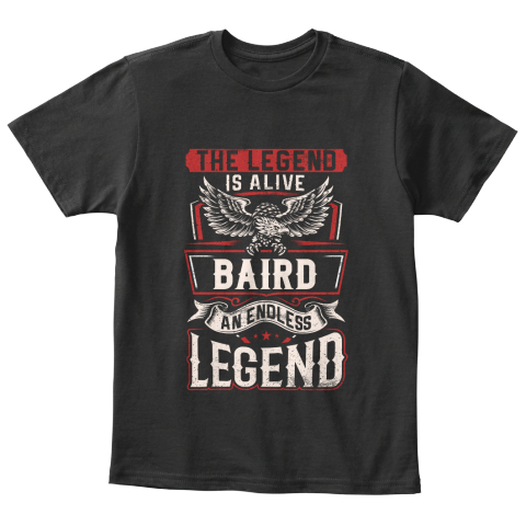 It's A Baird Thing Black T-Shirt Front