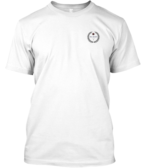 """The Society"" Limited Edition White Tee White T-Shirt Front"
